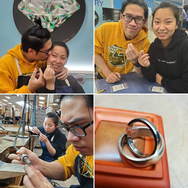 Making wedding rings for each other