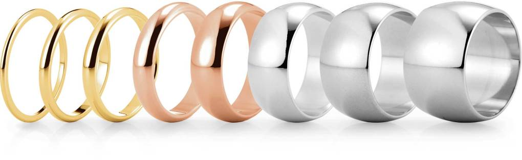 Choose your wedding ring width