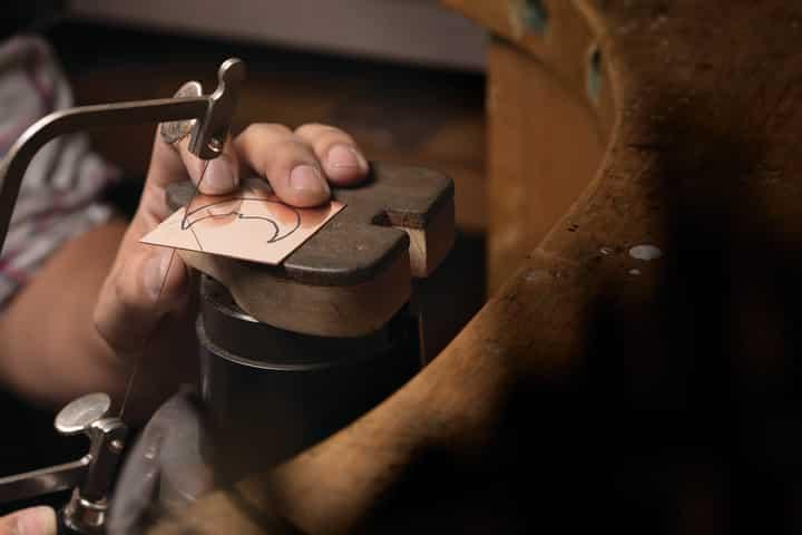 Making DIY groomsmen jewelry gifts